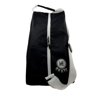 Bolsa Porta Patines Skate New Black White Frontal