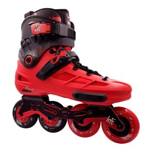 Patines Freeskate Angel 4X80 New Frame Rojo-Negro Lateral
