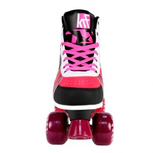 Patin Roller Street Negro/Rosa Frontal