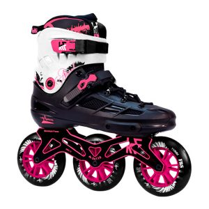 Patín Speed KRF Angel Negro 3x110 Rosa
